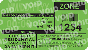 residential parking daily permit